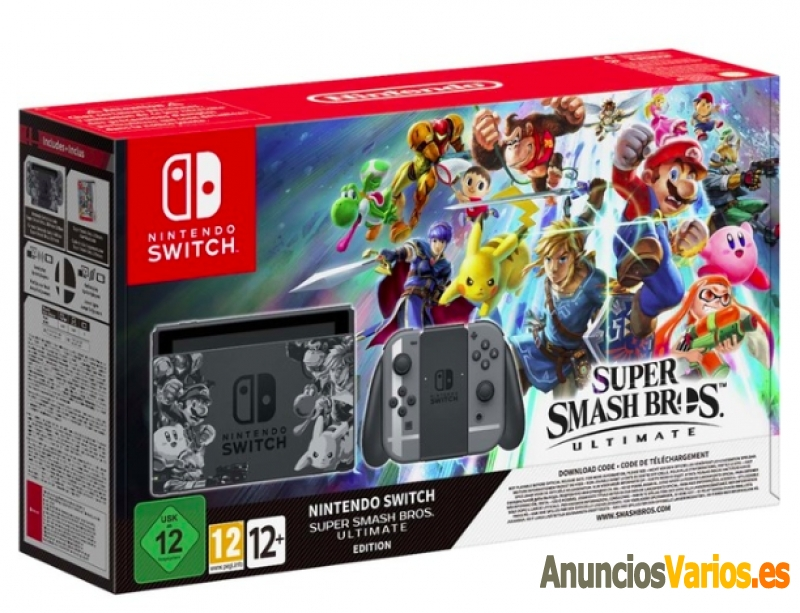 Consola Nintendo Switch Edición Super Smash Bros